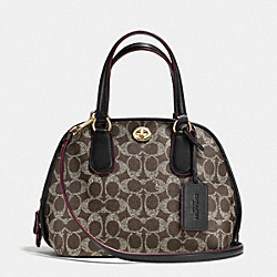 COACH F35159 Prince Street Mini Satchel In Signature LIGHT GOLD/SADDLE/BLACK