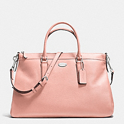COACH F35185 Morgan Satchel In Pebble Leather SILVER/BLUSH