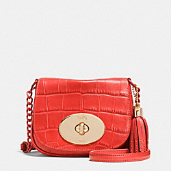 COACH F35199 Liv Crossbody In Croc Embossed Leather LIWM3