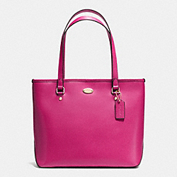 COACH F35204 - ZIP TOP TOTE IN CROSSGRAIN LEATHER IMCBY
