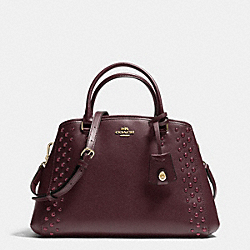 COACH F35221 - SMALL MARGOT CARRYALL IN STUDDED CROSSGRAIN LEATHER IMOXB