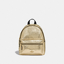 COACH F35238 Mini Charlie Backpack WHITE GOLD/LIGHT GOLD