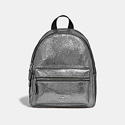 MINI CHARLIE BACKPACK - F35238 - GUNMETAL/SILVER