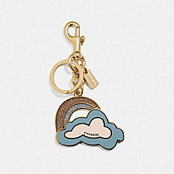 COACH F35245 Coach Cloud Bag Charm CORNFLOWER/GOLD