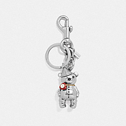 COACH F35246 Tin Man Bear Bag Charm SILVER/SILVER