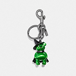 COACH F35248 Wicked Witch Bear Bag Charm GREEN/BLACK