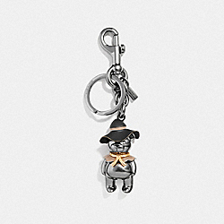 COACH F35250 Scarecrow Bear Bag Charm BLACK/BLACK
