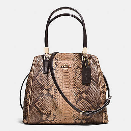 3ffc56f1c4e2d COACH f35271 MINETTA CROSSBODY IN SNAKESKIN EMBOSSED LEATHER LIGHT  GOLD NATURAL
