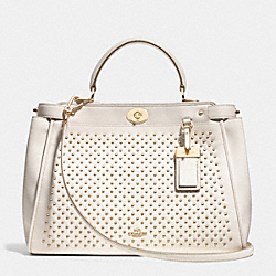 COACH F35285 - GRAMERCY SATCHEL IN STUDDED LEATHER LIGHT GOLD/CHALK