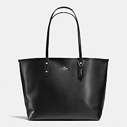 COACH F35355 - CITY TOTE IN CROSSGRAIN LEATHER LIGHT GOLD/BLACK/NUDE