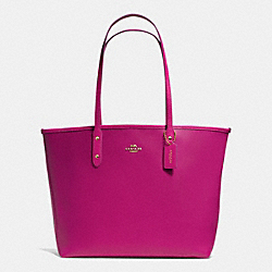 COACH F35355 - CITY TOTE IN CROSSGRAIN LEATHER IMCBY