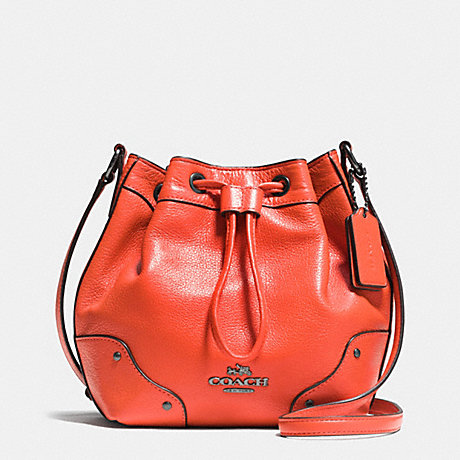 BABY MICKIE DRAWSTRING SHOULDER BAG IN GRAIN LEATHER - F35363 ...