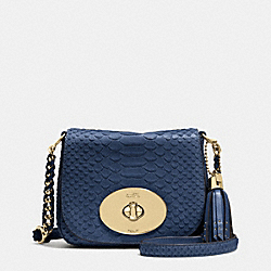 COACH F35403 Liv Crossbody In Python Embossed Leather  LIGHT GOLD/DENLIGHT GOLD