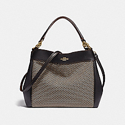 COACH F35427 Small Lexy Shoulder Bag With Legacy Print MILK/BLACK/LIGHT GOLD