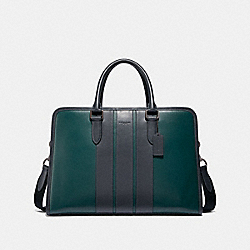 COACH F35430 Bond Brief FOREST GREEN/BLACK ANTIQUE NICKEL