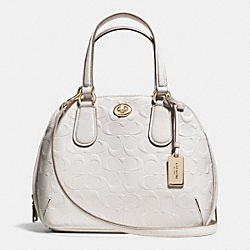 COACH F35452 - PRINCE STREET MINI SATCHEL IN SIGNATURE EMBOSSED LEATHER  LIGHT GOLD/CHALK