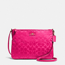 COACH F35454 Crossbody In Signature LIGHT GOLD/PINK RUBY