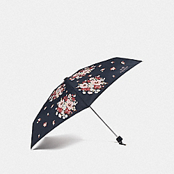 MINI UMBRELLA WITH DAISY BOUQUET PRINT - F35490 - NAVY/SILVER