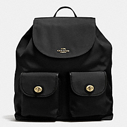 COACH F35503 - COACH BACKPACK IN NYLON LIGHT GOLD/BLACK