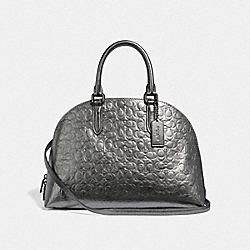 COACH F35526 - QUINN SATCHEL IN SIGNATURE LEATHER GM/METALLIC GRAPHITE