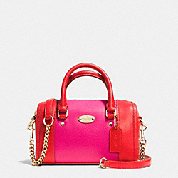 COACH F35533 - BABY BENNETT SATCHEL  LIGHT GOLD/CARDINAL/PINK RUBY