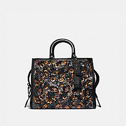 COACH F35613 - ROGUE WITH LEATHER SEQUINS BLACK MULTI/BLACK COPPER