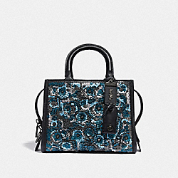COACH F35614 - ROGUE 25 WITH LEATHER SEQUIN BP/BLUE MULTI
