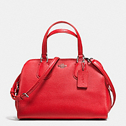 NOLITA SATCHEL IN PEBBLE LEATHER - f35650 - SILVER/TRUE RED