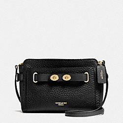 COACH F35688 Blake Crossbody In Bubble Leather IMITATION GOLD/BLACK F37336
