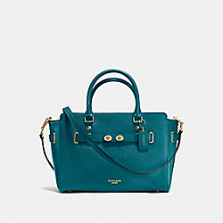 COACH F35689 - BLAKE CARRYALL IN BUBBLE LEATHER IMITATION GOLD/ATLANTIC