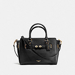 COACH F35689 - BLAKE CARRYALL IN BUBBLE LEATHER IMITATION GOLD/BLACK F37336