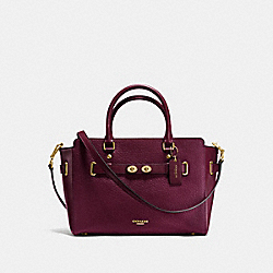 COACH F35689 - BLAKE CARRYALL IN BUBBLE LEATHER IMITATION GOLD/BURGUNDY