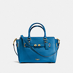 COACH F35689 - BLAKE CARRYALL IN BUBBLE LEATHER IMITATION GOLD/BRIGHT MINERAL