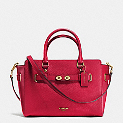 COACH F35689 - BLAKE CARRYALL IN BUBBLE LEATHER IMITATION GOLD/CLASSIC RED