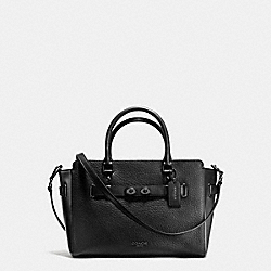BLAKE CARRYALL IN PEBBLE LEATHER - f35689 - MATTE BLACK/BLACK