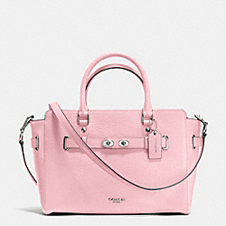 COACH F35689 Blake Carryall In Bubble Leather SILVER/PETAL