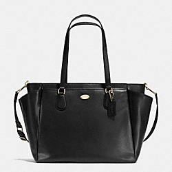 BABY BAG IN CROSSGRAIN LEATHER - f35702 -  LIGHT GOLD/BLACK