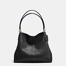 COACH F35723 Phoebe Shoulder Bag In Pebble Leather LIGHT GOLD/BLACK