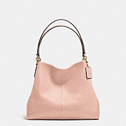 PHOEBE SHOULDER BAG IN PEBBLE LEATHER - f35723 - IMITATION GOLD/PEACH ROSE