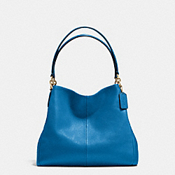 PHOEBE SHOULDER BAG IN PEBBLE LEATHER - f35723 - IMITATION GOLD/BRIGHT MINERAL