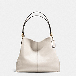 COACH F35723 - PHOEBE SHOULDER BAG IN PEBBLE LEATHER LIGHT GOLD/CHALK