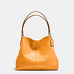 COACH F35723 Phoebe Shoulder Bag In Pebble Leather IMITATION GOLD/ORANGE PEEL
