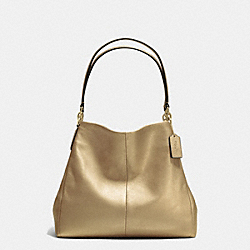 PHOEBE SHOULDER BAG IN PEBBLE LEATHER - f35723 - IMITATION GOLD/GOLD