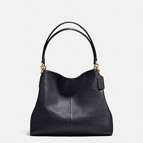 COACH f35723 PHOEBE SHOULDER BAG IN PEBBLE LEATHER IMITATION GOLD/MIDNIGHT