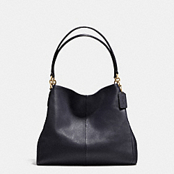 PHOEBE SHOULDER BAG IN PEBBLE LEATHER - f35723 - IMITATION GOLD/MIDNIGHT