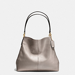 COACH F35723 - PHOEBE SHOULDER BAG IN PEBBLE LEATHER LIGHT GOLD/METALLIC