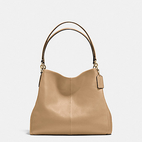 COACH f35723 PHOEBE SHOULDER BAG IN PEBBLE LEATHER IMITATION GOLD/NUDE