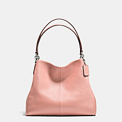 COACH F35723 Phoebe Shoulder Bag In Pebble Leather SILVER/BLUSH