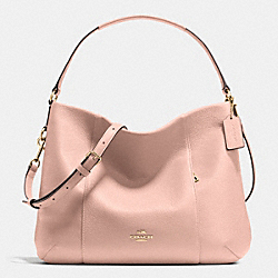 COACH F35809 East/west Isabelle Shoulder Bag In Pebble Leather IMITATION GOLD/PEACH ROSE