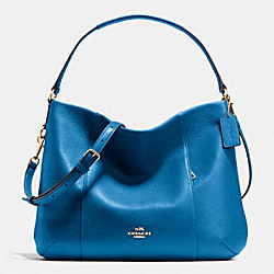 EAST/WEST ISABELLE SHOULDER BAG IN PEBBLE LEATHER - f35809 - IMITATION GOLD/BRIGHT MINERAL